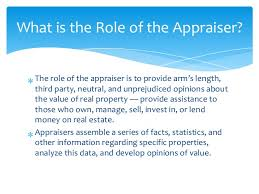 What is the role of an appraiser?