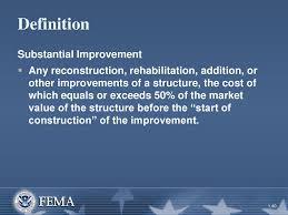 What does substantial improvement mean?